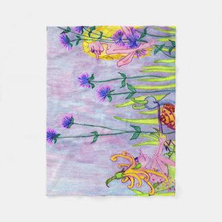 Faerie Garden Fleece Blanket