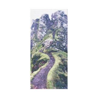 Faerie Glen Castle Illustration on Canvas Stretched Canvas Print
