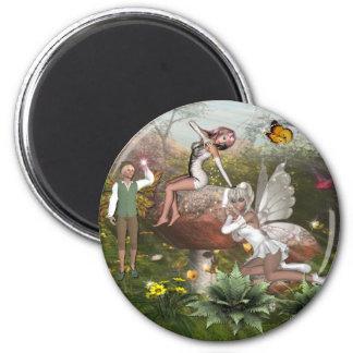 Faerie land1 6 cm round magnet