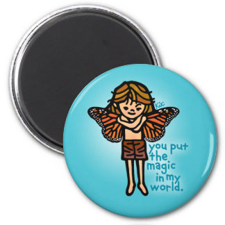 faerie magnet. 6 cm round magnet