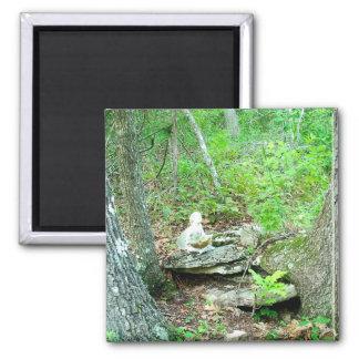 faerie on ridge rock square magnet
