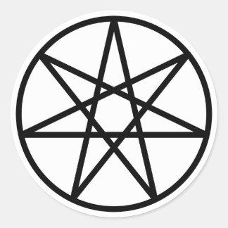 Faerie Star Round Sticker