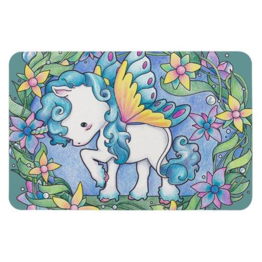 Faerie Unicorn Vinyl Magnet