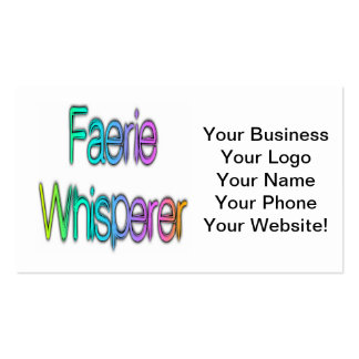 Faerie Whisperer Rainbow Pack Of Standard Business Cards