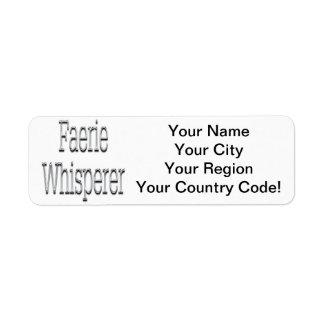 Faerie Whisperer Silver Return Address Label