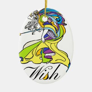 Faerie Wish Ceramic Oval Decoration