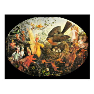 Faeries and Robin's Nest Post Card