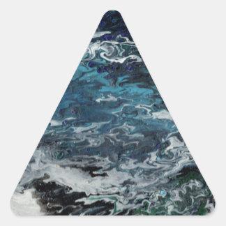 Faeries Aquatica Abstract Triangle Sticker