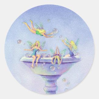 FAERIES BUBBLE BATH by SHARON SHARPE Round Sticker
