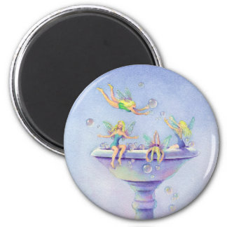 FAERIES BUBBLEBATH by SHARON SHARPE 6 Cm Round Magnet