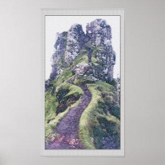Faery Glen Castle Illustration Poster