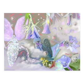 Faery in her Small World postcard