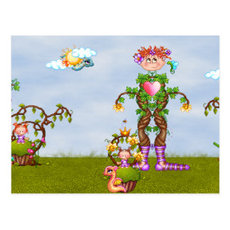 Faery Land Fun Pixel Art Postcard