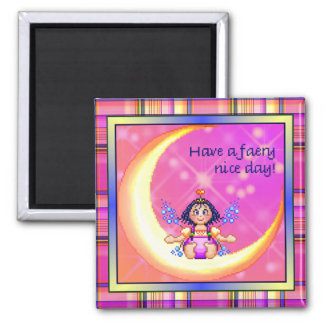 Faery Nice Day Pixel Art Square Magnet