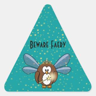 faery owl triangle stickers