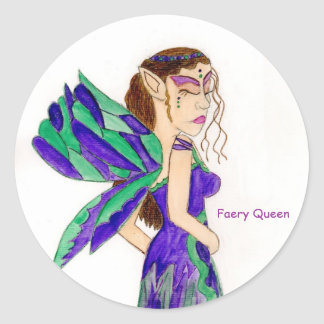 Faery Queen Round Sticker