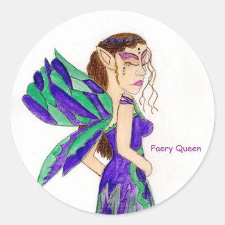 Faery Queen Classic Round Sticker