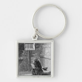 Fagin in the Condemned Cell Silver-Colored Square Key Ring