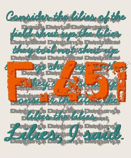 Fahrenheit 451 t-shirts