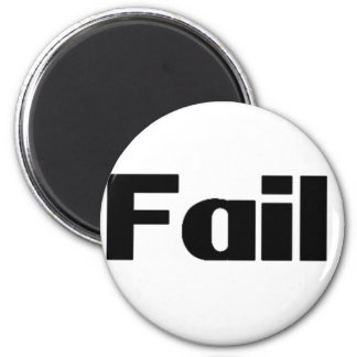 Fail 6 Cm Round Magnet