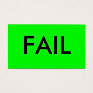FAIL BUSINESS CARD