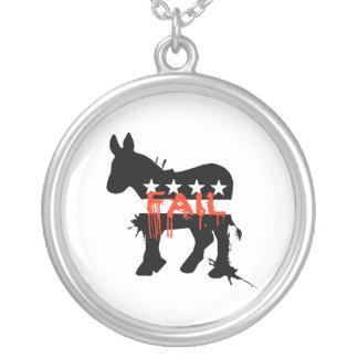 Fail Democrat Round Pendant Necklace