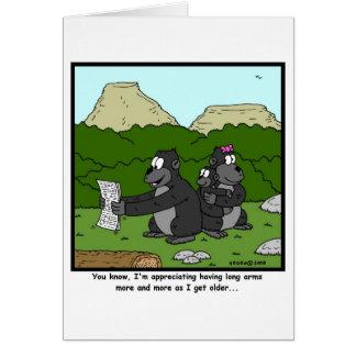 Failing Eyesight: Gorilla Cartoon Card