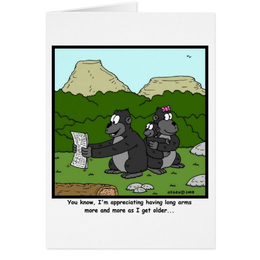 Failing Eyesight: Gorilla Cartoon Cards