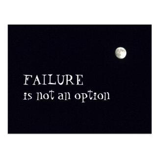 Failure in not an option postcard