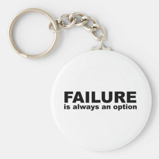 failure is always an option basic round button key ring