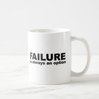 failure is always an option coffee mugs