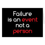 Failure is an event greeting card