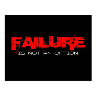 FAILURE Is not an Option Postcard