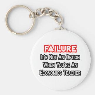 Failure Not an Option Economics Teacher Keychain