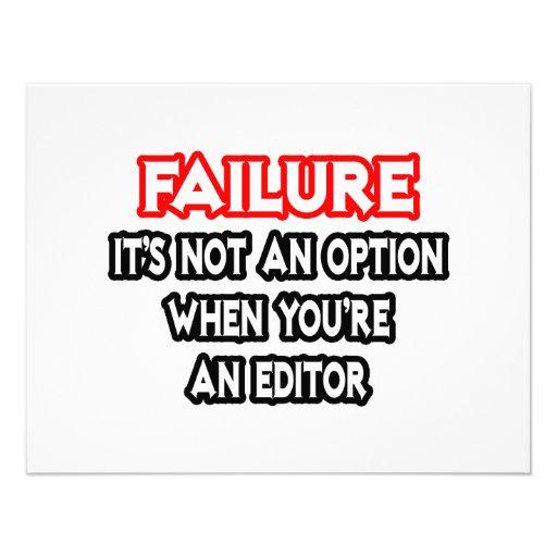 Failure...Not an Option...Editor Invitation