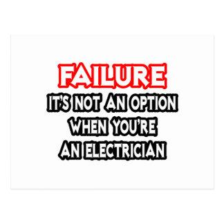 Failure...Not an Option...Electrician Postcard