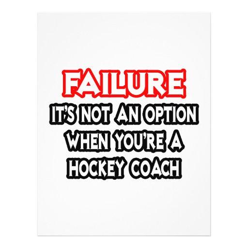 Failure...Not an Option...Hockey Coach Flyers