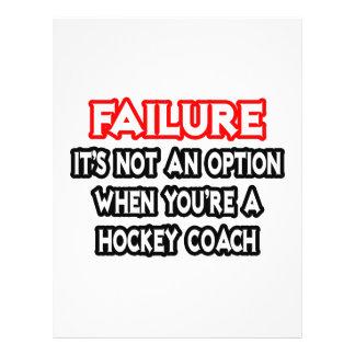 Failure Not an Option Hockey Coach Flyers