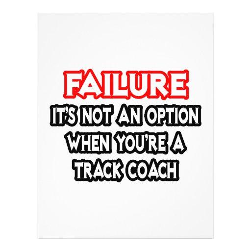 Failure...Not an Option...Track Coach Flyer