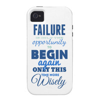 Failure! Vintage Typography Inspirational Card iPhone 4/4S Cover