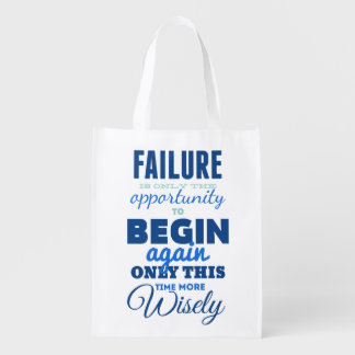 Failure Vintage Typography Reusable Bag Grocery Bags