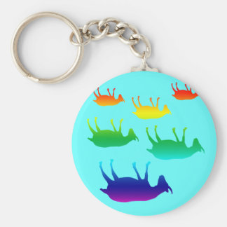Fainting Goats Basic Round Button Key Ring