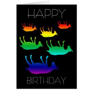 Fainting Goats Birthday Greeting Card