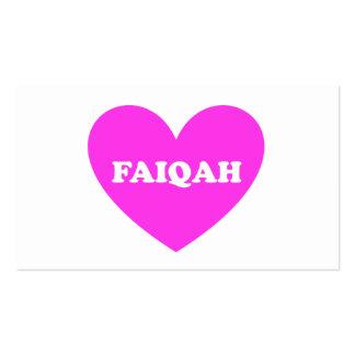 Faiqah Pack Of Standard Business Cards