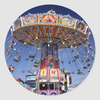 fair carnival ride classic round sticker