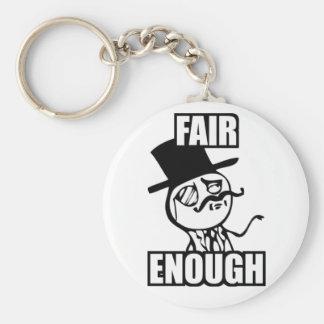 Fair Enough Meme Key Ring