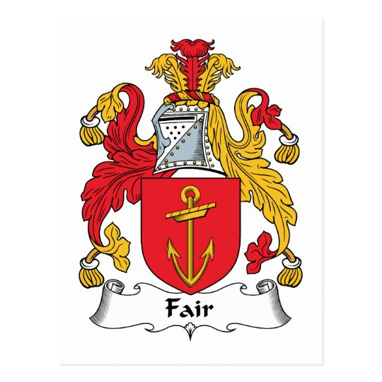 Fair Family Crest Postcard