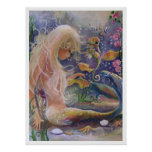 Fair Haired Mermaid Poster