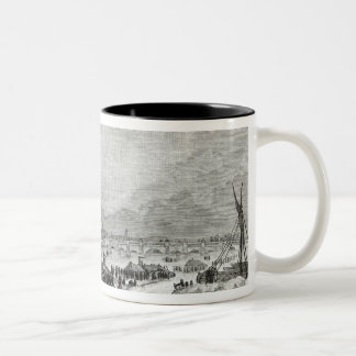 Fair held on the Thames Two-Tone Coffee Mug