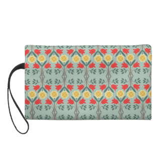 Fair isle fairisle floral retro hipster pattern wristlet purses